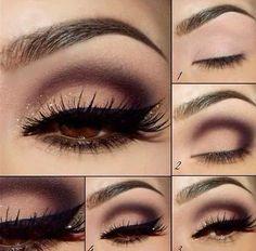 Eye Makeup Tips.Smokey Eye Makeup Tips - For a Catchy and Impressive Look Beautiful Eye Makeup, Pretty Makeup, Love Makeup, Makeup Inspo, Makeup Inspiration, Makeup For Black Dress, Prom Make Up For Blue Dress, Makeup Goals, Makeup Tips