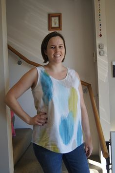 Eucalypt Tank | Flickr - Caroline Flynn Tank Top Dress, French Seam, Wardrobe Staples, Hemline, Tie Dye, Tank Tops, Sewing, Pattern, Inspiration