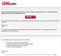 CNN iReport confirmation page