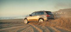 BMW X5 on a Beach