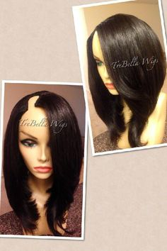 TreBella U-Part Wigs Best Human Hair Extensions, Diy Wig, Natural Hair Styles, Short Hair Styles, Indian Human Hair, Hair Game, Hair Shows, Love Hair, Human Hair Wigs