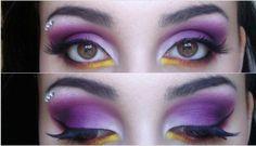 ScarletHallow Makeup: Purple flame :)