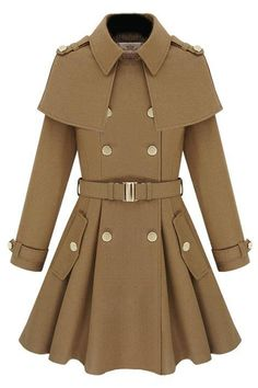 ROMWE | Cape-shawl Light Tan Coat, The Latest Street Fashion   http://www.romwe.com/capeshawl-light-tan-coat-p-41414.html?Pinterest=fyerflys