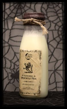 Werewolf Milk  PreMade Witches Apothecary by FreakishlyAdorable, $6.00