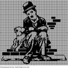 Charlie Chaplin et son chien