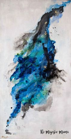 My Super Easy DIY Canvas Painting – The Majestic Mama Easy Abstract Art, Contemporary Abstract Art, Abstract Canvas Art, Blue Abstract, Easy Canvas Painting, Diy Canvas Art, Canvas Ideas, Christmas Paintings On Canvas, Christmas Canvas
