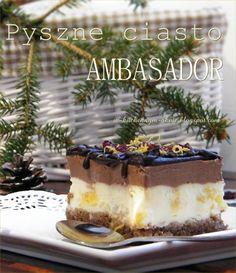 ciasto ambasador Tiramisu, Thanksgiving, Cooking Recipes, Ethnic Recipes, Easy, Food, Kitchens, Bakken, Thanksgiving Tree