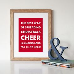 Elf 'Christmas Cheer' Christmas Art Print - christmas home accessories £18