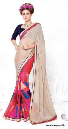 Multi Georgette,Silk Party Wear Traditional Saree