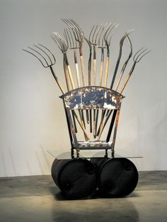 Walter May - Display of Forks, 2002