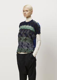 Junya Watanabe Sweater T Shirt (Green Blue)