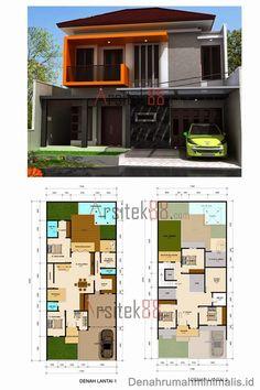 Desain Rumah Minimalis 2 Lantai Lebar 7 Meter Beserta Denahnya