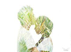 A little kiss on forehead #multiple #exposure #love #prewedding #couple