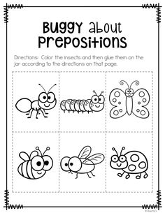 FREE prepositions printables plus link to video.