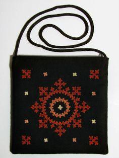 Armenian Handmade souvenirs - An embroidered purse - Size: cm Armenian Marash work Kasuti Embroidery, Hand Embroidery Dress, Embroidery Works, Folk Embroidery, Indian Embroidery, Hand Embroidery Stitches, Embroidery Patterns, Handmade Embroidery Designs, Kutch Work Designs