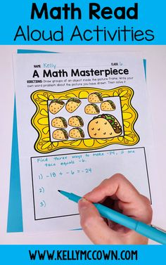 Do you need a great Math Read Aloud book? Have you read the MATH terpieces? The MATH-terpieces lesson plan, activity, and writing. Use this Math Read Aloud pack in your classroom today! What makes them so great? Math read alouds middle school have grade level content for grades 6, 7, 8!