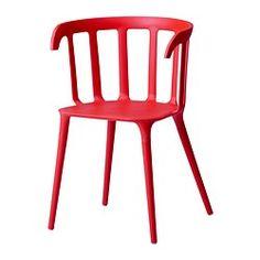 "IKEA PS 2012 armchair, red Width: 20 1/2 "" Depth: 18 1/8 "" Height: 29 7/8 "" Width: 52 cm Depth: 46 cm Height: 76 cm"