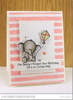 Adorable Elephants: MFT,  Stitched Mini Scallop Rectangle STAX Die-namics, critter sketch