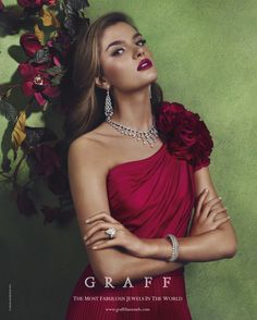 Graff's 2013 Summer Ad campaign features 33 pieces of exceptional jewellery, comprising an incredible 5,077 diamonds with a total weight of over 2,320 carats. Each piece has been expertly created by Master Craftsmen at Graff's London workshop. #diamonds #Graff