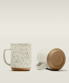 Ceramic camp cups inspired by enamel cups you camped with as a kid.