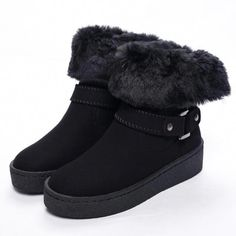 268e2c526 Woman Boots Russian Style Shearling Warmest Winter Boots for Women Fur  Winter Shoes Ankle Boots Suede
