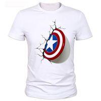 2016 Captain America 3D Shield t shirt men New cool originality popular shirt Brand good quality comfortable  tops
