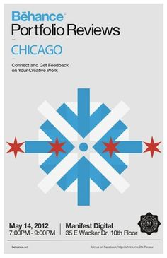 Behance Chicago Spring 2012 Poster #BehanceReviews #Be_Chicago