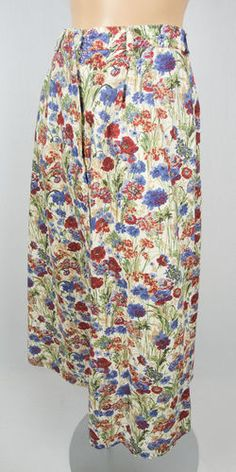 TILLEY ENDURABLES Liberty Of London Print Skirt S Long Travel Floral Lightweight