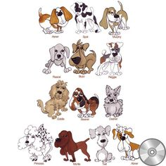 Doggie Delight 2 Machine Embroidery Design Collection | CD – Loralie Designs