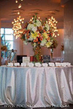 Centerpieces, placecards, room décor, reception décor, reception Location: One Bal Harbor www.focusedonforever.com Focused on Forever Studio South Florida Wedding Photographer