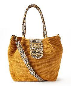 Look at this #zulilyfind! Honey Oversized Tote Bag #zulilyfinds