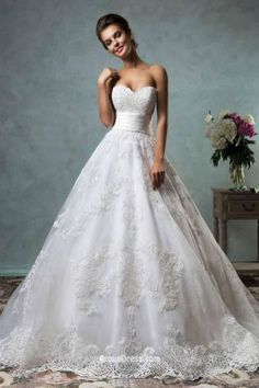 Lace Ball Gown Wedding Dresses Idea #weddinggowns