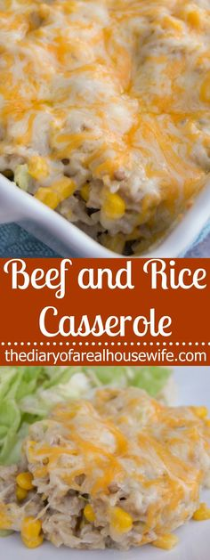 Beef and Rice Casserole. The easiest dinner recipe and my entire family (even the little ones) LOVED it!