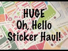 PLANNER STICKER HAUL | Oh, Hello Stationery Co #5 | Coupon Code - YouTube