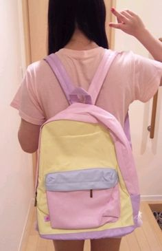pastel backpack Pastel Backpack, Backpack Bags, Fashion Backpack, Cute Backpacks For School, Unique Backpacks, Cute School Supplies, Japanese Street Fashion, Cute Bags, Luxury Handbags