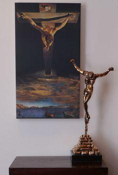 "SOLD: Salvador Dali's ""Cristo de San Juan de la Cruz"" (55.5cm) bronze edition of 10. www.robinrile.com"