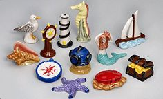 Limited Edition Hand Painted Nautical Wonderland Figurines from a Tea Company I like. If I had a curio or a mantle piece, I'd buy this. Vintage Games, Vintage Toys, Porcelain Ceramics, Ceramic Pottery, Rosen Tee, Red Rose Tea, Mantle Piece, Coastal Art, Some Pictures