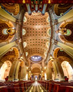 #Religious PlacesChurchesPhiladelhiaCathedral Basilica of Saints Paul and Peter #PadmasWorld (January 19 2016 at 12:27AM) A Vertorama stitched from 5 frames. Each frame is merged from 5 bracketed shots. Most of this is learned from Klaus Hermann's book.