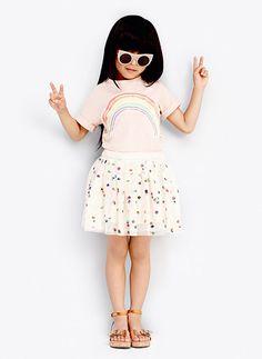 Stella McCartney Kids Honey Girls Polka Dot Tulle Skirt - Cream - 11 Main