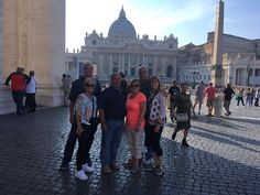 How great is this photo of our clients in front of St Peter's Basilica! This was such a great day because you can see just how empty the square is which let our clients experience the Vatican without the busy crowds! For more information on our Vatican early entrance tour: www.livitaly.com/tour/early-entrance-vatican-small-group-tour/?src=pinterest