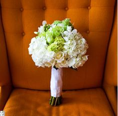 Classic white flowers with green accents.