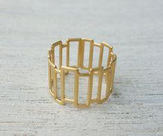 Larsen Ring geometric ring Scandinavian design by shlomitofir,