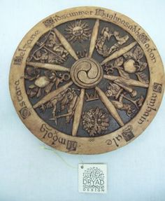 Wood Wheel of The Year Pagan Holiday Wall Plaque New Dryad Design Samhain Wiccan, Magick, Hamster Cages, Traditional Witchcraft, Holiday Calendar, Sabbats, Paganism, Growing Herbs, Dark Night