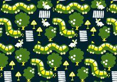 Yellow and green Helsinki trams Print by Pikkukiiski