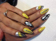 Yellow by amysannails - Nail Art Gallery nailartgallery.nailsmag.com by Nails Magazine www.nailsmag.com #nailart