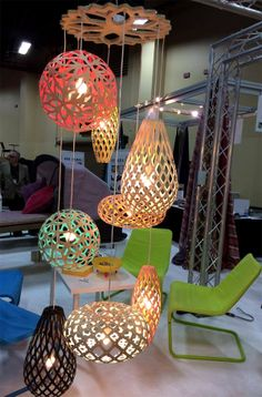 Booth for Bloom Lighting Group at Hospitality Design EXPO overview – 2014 Las Vegas with David Trubridge #Lighting