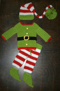 Hey, I found this really awesome Etsy listing at https://www.etsy.com/listing/256667221/crochet-elf-suit-outfit-christmas-elf