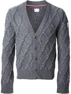 MONCLER GAMME BLEU cable knit cardigan  ◊  FARFETCH