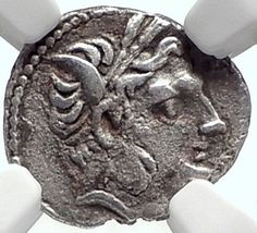 AKRAGAS under CARTHAGE Rule Hannibal Time RARE R2 Ancient Greek Coin NGC i68712