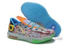 "b4616ace339d Girls Nike KD 6 ""What The KD"" Hoop Purple Urgent Orange-Shark For Sale  Super Deals"